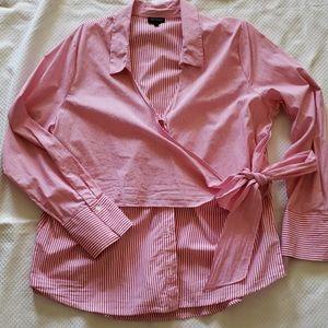 Button up wrap top